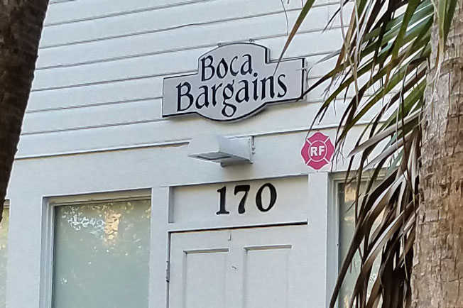 Boca Bargains Entrance