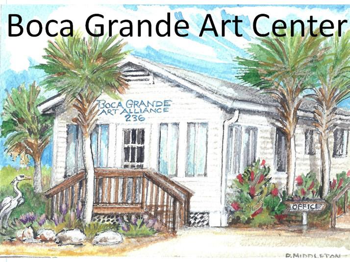 Painting of Boca Grande Art Center House