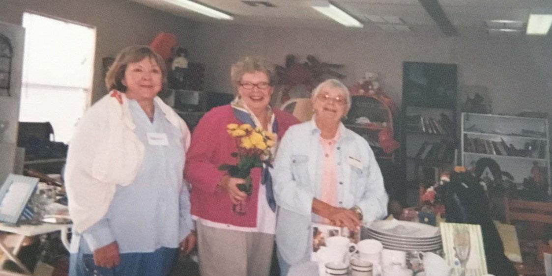 Three women at Boca Bargains